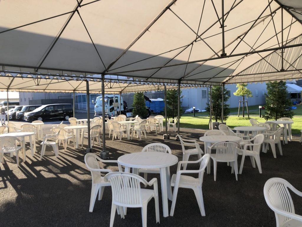 大型テントの使用風景
