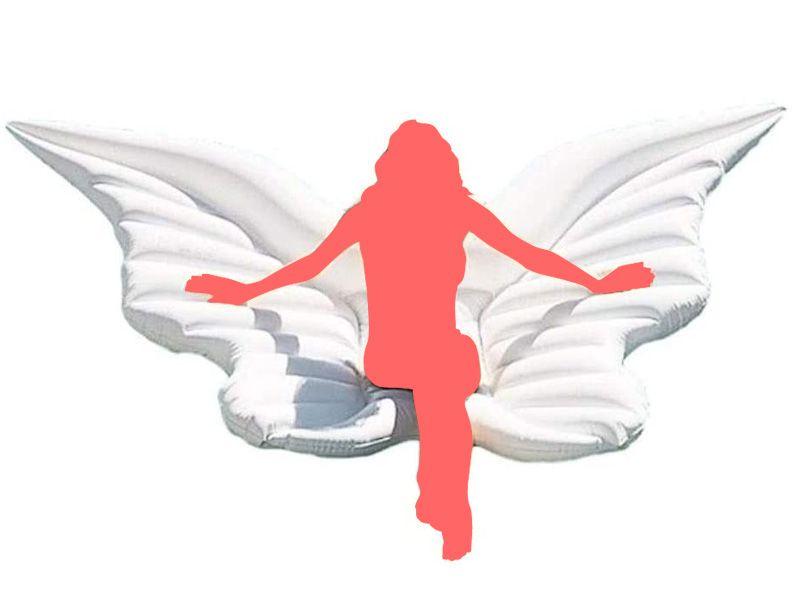 プール用天使の翼エアマットの画像
