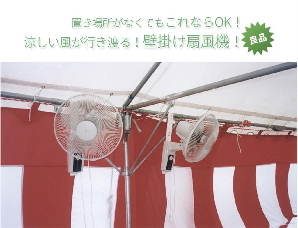 壁掛け扇風機の画像